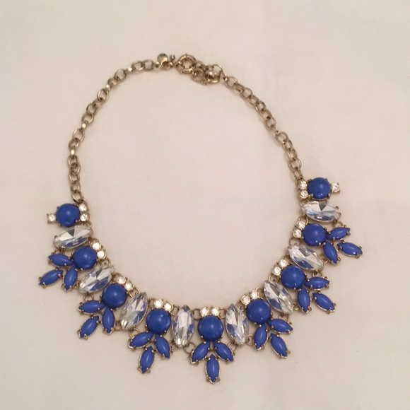 j crew necklace wreath statement necklace bluegold